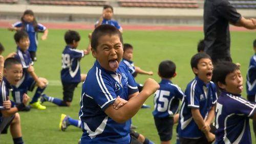 Japan minis' haka wows the All Blacks