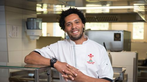 Wales team chef Andre Moore