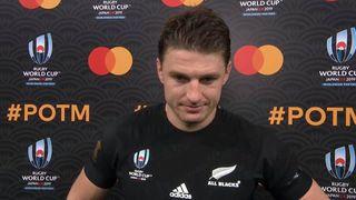 Beauden Barrett wins Mastercard Player of the Match against Ireland