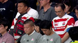A moment of silence at Rugby World Cup 2019 Typhoon Hagibis victims