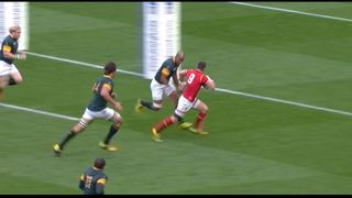 RWC Classic - RSA-WAL 2015 - Biggar sends over Davies.mov