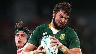 Japan v South Africa - Rugby World Cup 2019: Lood de Jager