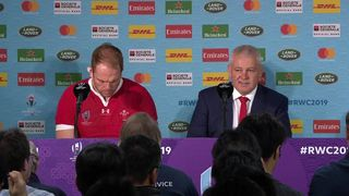 Gatland and AW Jones face the media