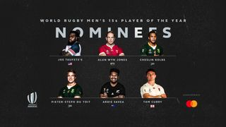 World Rugby Men's 15s Player of the Year 2019 nominees