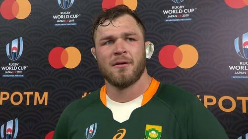 Duane Vermeulen wins Mastercard Player of the Match in Rugby World Cup final