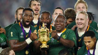 South Africa lift Webb Ellis Cup
