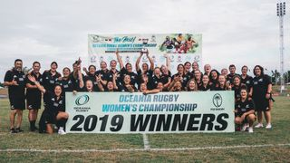 Oceania Rugby Women's Championship 2019: trophy lift