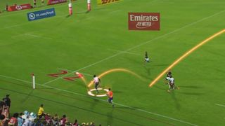 Kenya's awesome crossfield kick try