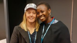 Regina Lunyolo and Kendra Cocksedge