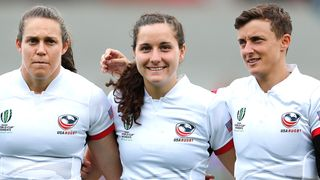 US Women's Eagles player Tess Feury (centre)