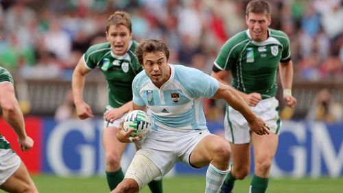 Juan Martín Hernández against Ireland at Rugby World Cup 2007