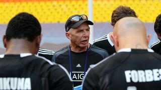 Gordon Tietjens delivers New Zealand team talk
