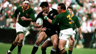 Photo of Jamie Joseph playing in the Rugby World Cup 1995 Final