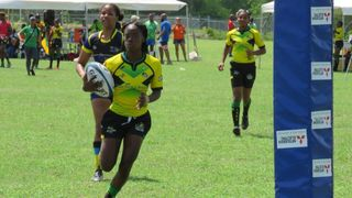 Shanae Gordon playing for Jamaica
