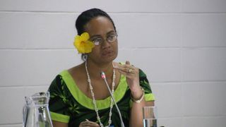 Beth Onesemo at a Pacific Region meeting