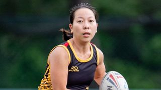 Doris Chow playing touch