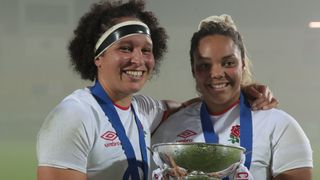 Shaunagh Brown and Detysha Harper celebrate Grand Slam