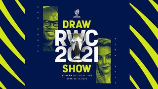 Rugby World Cup 2021 Draw Show graphic