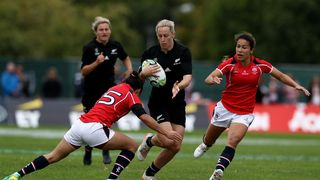 Kelly Brazier playing Hong Kong at RWC 2017