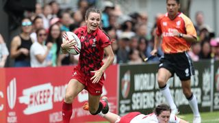 Jasmine Joyce at World Rugby Sevens Series Qualifier 2018