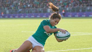 Sene Naoupu scores try for Ireland