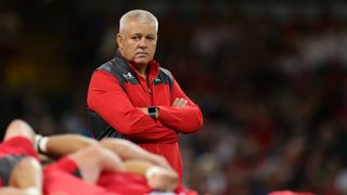 Warren Gatland watches his Wales players