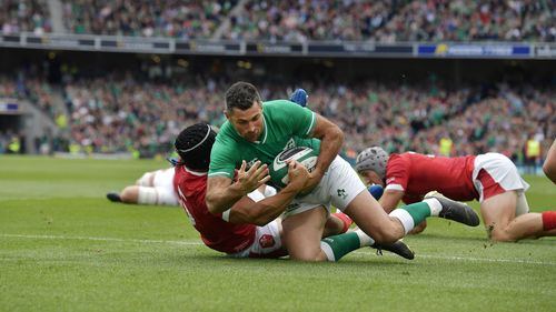 Rob Kearney scores for Ireland against Wales on 7 September 2019