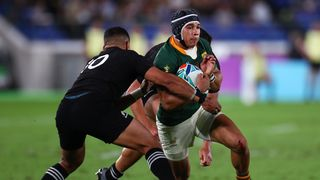 South Africa's Cheslin Kolbe in action against New Zealand