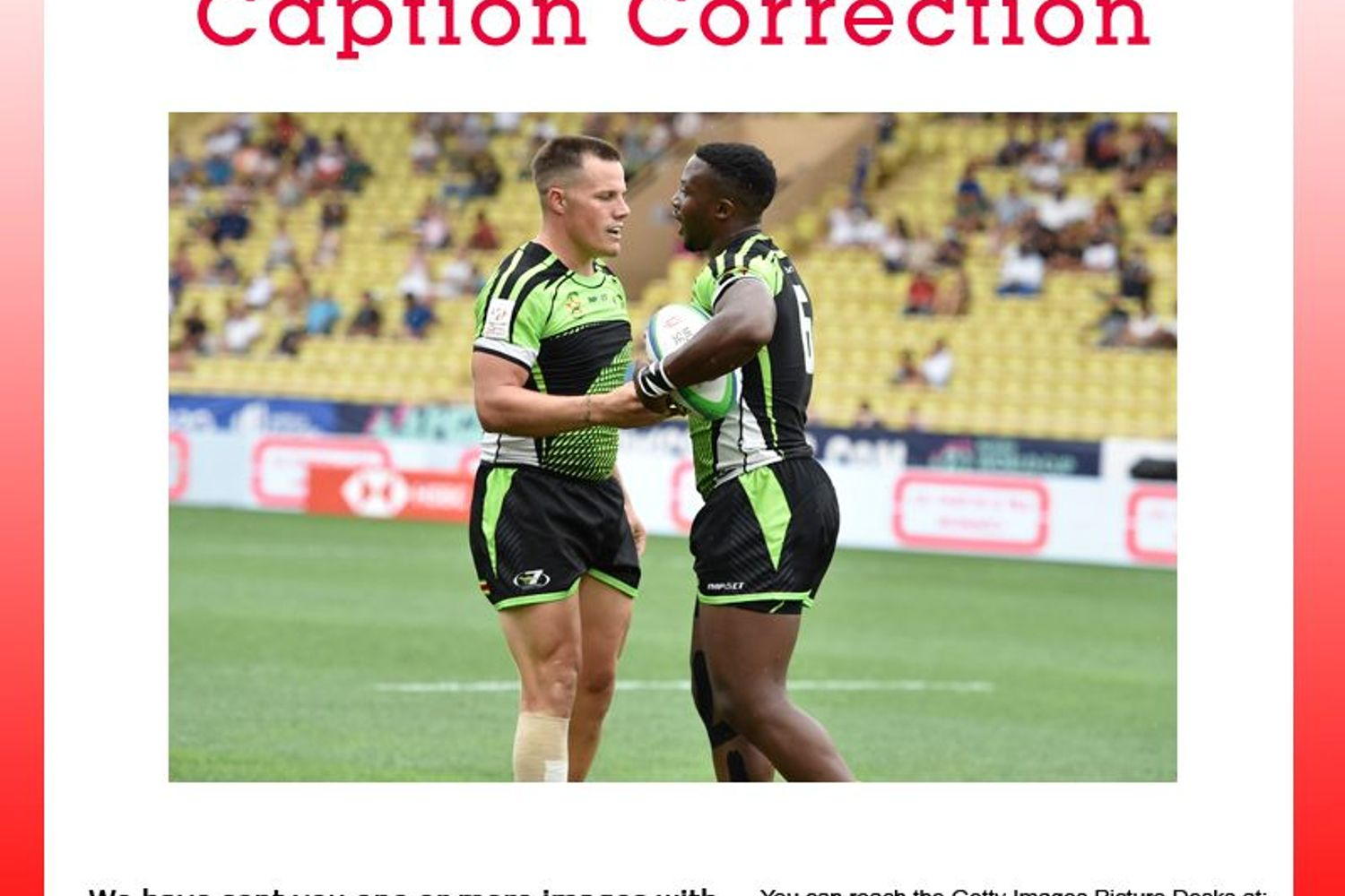 CAPTION CORRECTION: World Rugby Sevens Repechage - Day Three