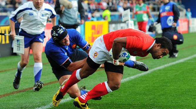 Tonga Best Bits: Sukanaivalu Hufanga evades French defence to bundle over