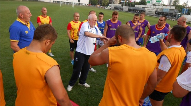 IRB Nations Cup 2013 - Romania Head Coach Lynn Howells