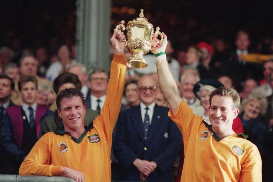 Australia win the Rugby World Cuo - RWC 1991