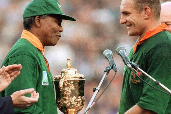 South Africa Best Bits: Nelson Mandela hands Webb Ellis Cup to Francois Pienaar