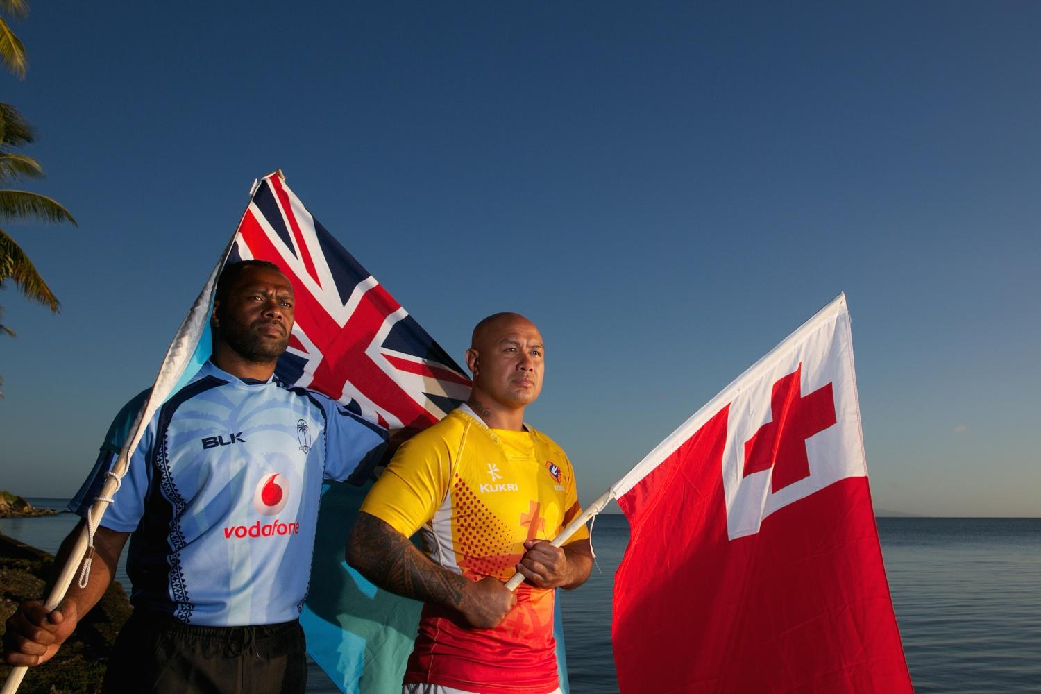 Fiji and Tonga Pacific Nations Cup 2015 captain's photocall