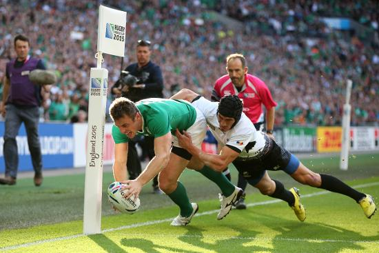 RWC Re:LIVE - Bowe scores opening try for Ireland