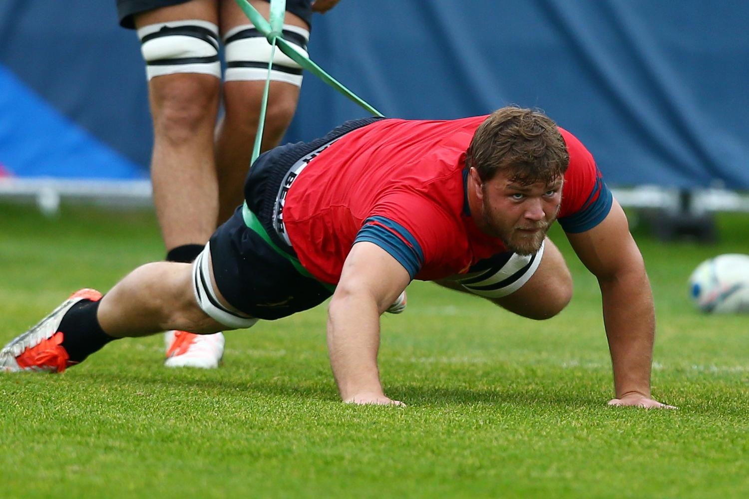 FLAT OUT: Duane Vermeulen of South Africa sweats it out in training