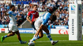 RWC Re:LIVE - Moroni sets up Hernandez for the opening try