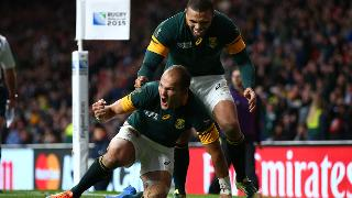 South Africa Best Bits: Fourie Du Preez peels off scrum to score v Wales at RWC 2015