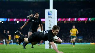 New Zealand Best Bits: Beauden Barrett scores in Rugby World Cup 2015 final