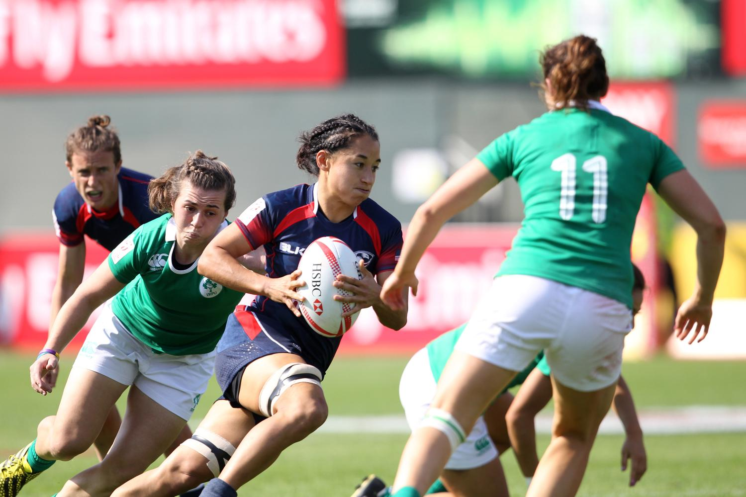 USA's Kelly Griffin on the attack