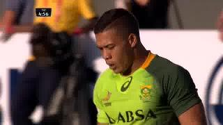 Try, Cheslin Kolbe, Argentina v SOUTH AFRICA