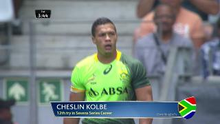 Try, Cheslin Kolbe, SOUTH AFRICA v Zimbabwe