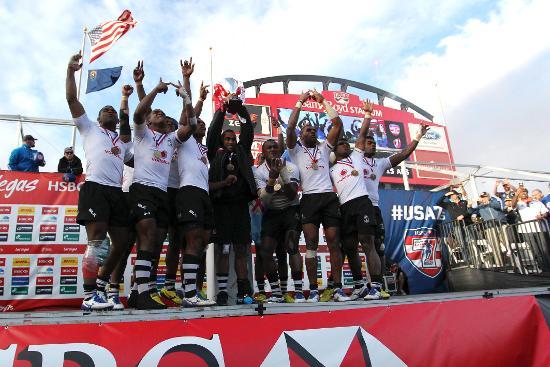 Fiji win the HSBC Las Vegas Sevens