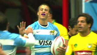 Try, Bautista Delguy, ARGENTINA v Brazil
