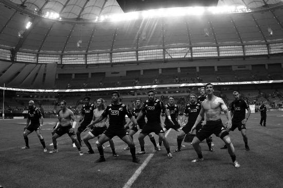 New Zealand perform the HAKA at the HSBC Canada Sevens - IN PICTURES
