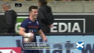 Try, George Horne, SCOTLAND v Fiji