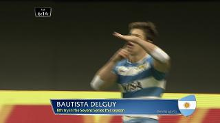 Try, Bautista Delguy, ARGENTINA v Wales