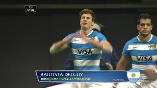 Try, Bautista Delguy, ARGENTINA v New Zealand