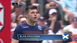 Try, Blair Kinghorn, SCOTLAND v France