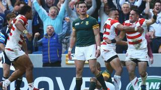 Japan beat South Africa RWC 2015